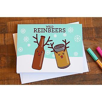 Wild Reinbeers-hauska joulukortti