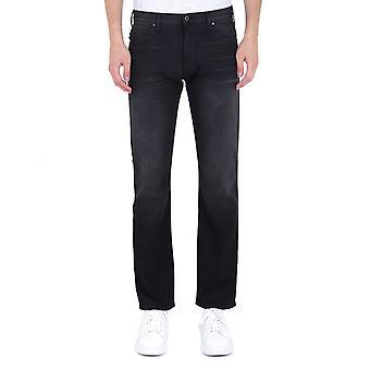 Emporio Armani J45 Regular Fit Washed Black Denim Jeans