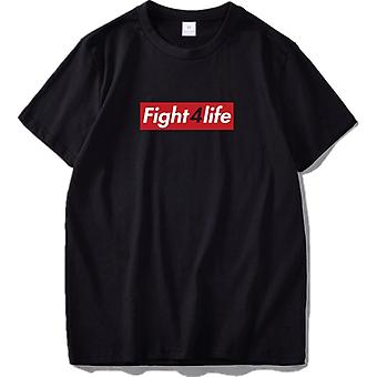 Mens/Womens Fight 4 Life Black Crew Neck T Shirt