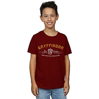 Harry Potter garotos da Grifinória equipe Quidditch t-shirt