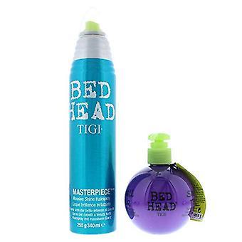 Tigi Bed Head Pumped & Polished Gift Set 340ml Hair Spray + 200ml Heat Protectant