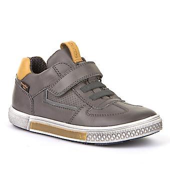 FRODDO Velcro Leather Shoe Grey