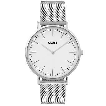Cluse Cw0101201002 La Boheme White & Silver Mesh Ladies Watch
