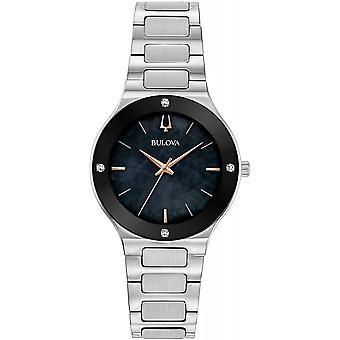 ブローバ 96R231 女性&アポ;s ミレニア ブラック ダイヤル ダイヤモンド腕時計