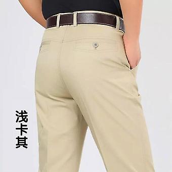 Fashion Boutique Cotton Solid Khaki Official Business Suit Pants Wedding Dress