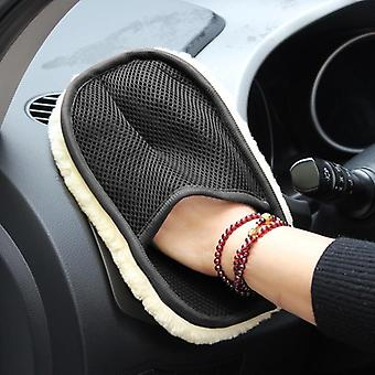 Car Styling Wool Soft Car Washing Gloves, Cleaning Brush, Motorcycle Washer