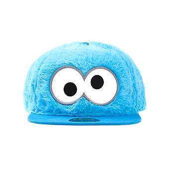 Sesame Street Cookie Monster Fluffy Snapback Cap