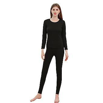 Zamatovo husté teplé termálne spodné prádlo sada pre mužov / ženy