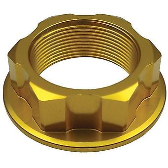 GP Pro Gold Steering Stem Nut - M22 x 30 x P1.0 x H12