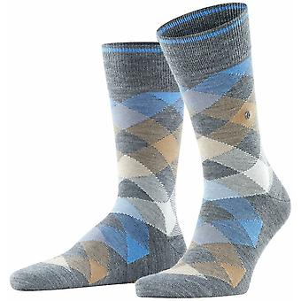 Burlington Newcastle Socks - Dark Grey/Blue