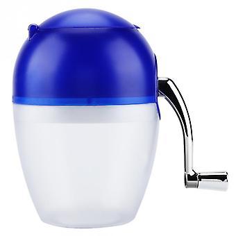 Household Manual Ice Crusher Hand Crank Mini Ice Shaving Machine (white)