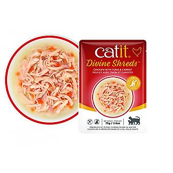 Catit Divine Shreds Chicken/Tuna & Carrot Soup (Cats , Cat Food , Wet Food)