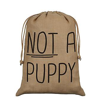 Grindstore Not A Puppy Hessian Christmas Santa Sack