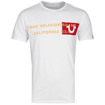 True Religion Brand California U.S Logo T-Shirt - White