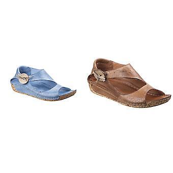 Riva Womens/dames Arlo élastiquée sandales en cuir bouton