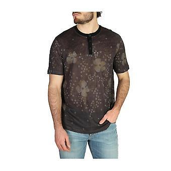 Emporio Armani -BRANDS - Bekleidung - T-Shirts - 3Z1M6Y1J2IZF_010 - Herren - dimgray,green - XL