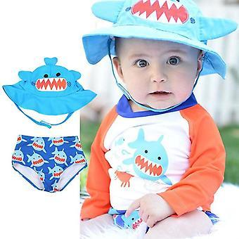 Zomer schattige baby / peuter herbruikbare zonnehoed & zwemmen luier set