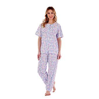 Slenderella PJ77134 Women's Floral Cotton Pyjama Set