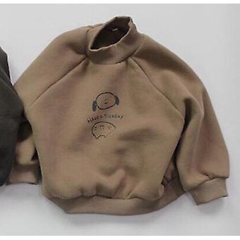 Vauvan fleece lämmin collegepaidat sarjakuva painettu puoli korkea kaulus pullovers puserot