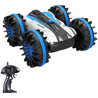 DZK RC Cars,Waterproof Stunt Car Amphibious RC Car with 2 Sides Driving On Water & LandElectr