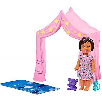 Barbie baby-sitter storytelling accessoire réglé rose