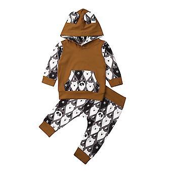 Vastasyntynyt vauvan verryttelypuku vaatteet hupullinen toppi ja pitkät housut asut