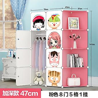 Baby Wardrobe Resin Kids Closet Armoire Enfant Assembly Storage Cabinets