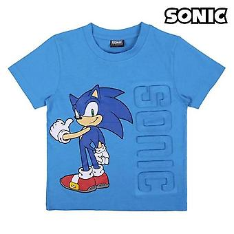 Child's short sleeve t-shirt sonic pale blue