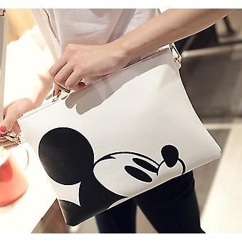 Cartoon Print Mickey Mouse Cross-body Clutch, Cute Envelope Lady
