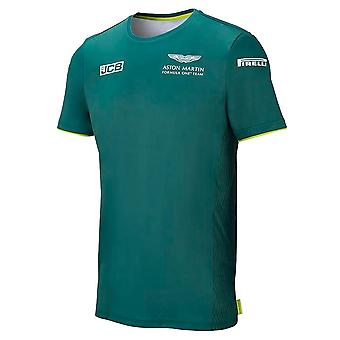 2021 Aston Martin F1 Official Lifestyle Logo T-shirt (Green)