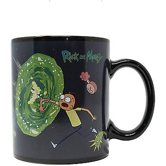 Cartoon Network SCMG24959 Rick and Morty (Portals) Heat Changing Mug, Multi-Colour