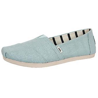 Toms chaussures en toile patrimoniale alpargata bleu pastel pour femmes