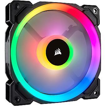 HanFei LL120 RGB LED PWM PC-Gehuselfter (120mm Dual Licht Loop RGB LED, Einzelverpackung) schwarz
