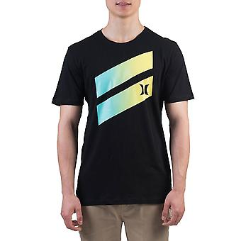 Hurley Men's T-Shirt ~ Icon Slash Gradient jaune