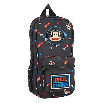 Pencil Case Backpack Paul Frank Retro Gamer Black (33 Pieces)