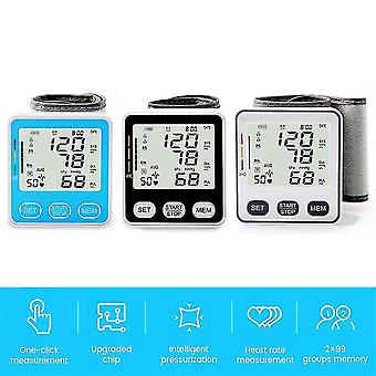 Medical digital blood pressure electric wrist blood pressure monitor automatic tonometer pulse heart beat rate meter device