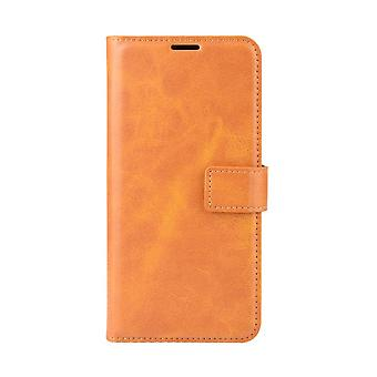Magnetic Leather CaseElegant for Asus Zenfone Max M1 ZB555KL - Yellow