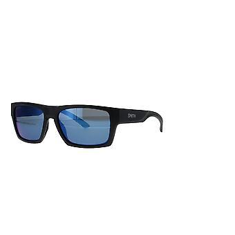 Smith Outlier 2 124/QG Matte Black-Silver/Blue Mirror Sunglasses