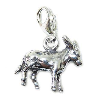 Esel Clip Auf Sterling Silber Charm .925 X 1 Maultiere & Esel Charms - 15367