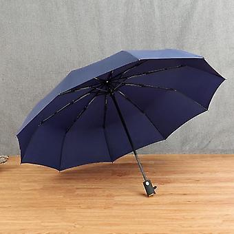 Kompakt helautomatiskt högkvalitativt paraply (blå)