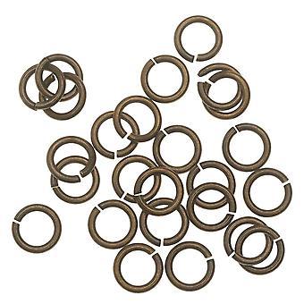 TierraCast Messing Oxide Afwerking Messing Open Jump Ringen 7.7mm 16 Gauge (25)