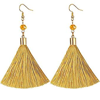 KYEYGWO - Women's nappa earrings, handmade in gold and stone plated crystal with fishing hook for Ref girls. 0635946999332