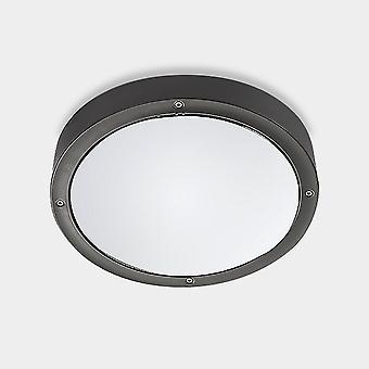 LED esterno Simple Flush Urban Grey, Opale IP65 14.5W 3000K