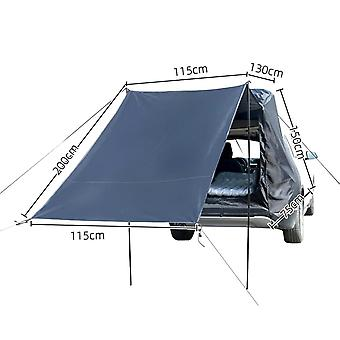 Windproof Car Rear Extension Sunshade Tent Vehicle Trunk Side Awning Waterproof Car Rear Tent