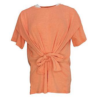DG2 By Diane Gilman Women's Top Convertible Flutter Orange 741031