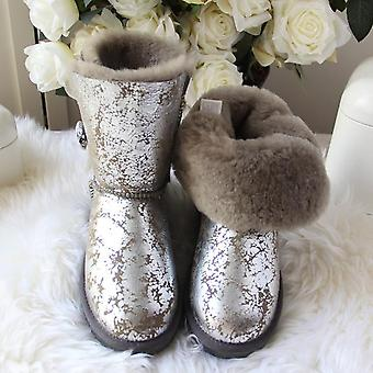 Top Quality Woman Snow Boots, Leather Boots