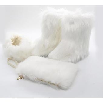 Women Warm Fox Fur Shoes
