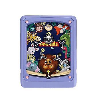 Lila kreative Kinder Flipper Spiel Cartoon Handheld Spiel Maschine Labyrinth Auswurf Score Maschine az16140