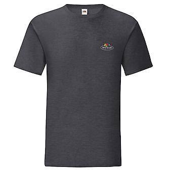 Fruit of the Loom Mens Vintage Small Logo Polycotton T-Shirt