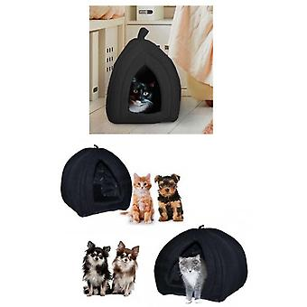 Pet Hut Polar Cat And Dog Bed-black